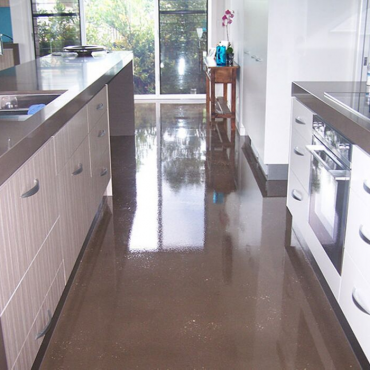 Epoxy floor sealed in high gloss